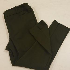 Loft Green Skinny Ankle Pants in Curvy Fit